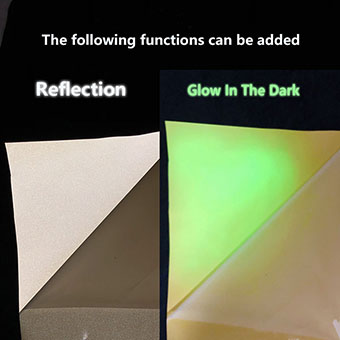 Glow In The Dark and Reflective Silicone Vinyl